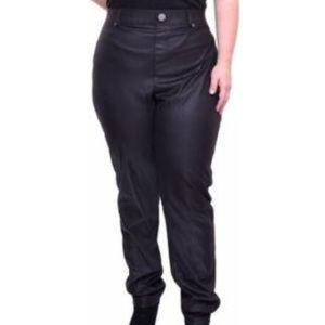 INC Deep black opaque leggings w/ sheen